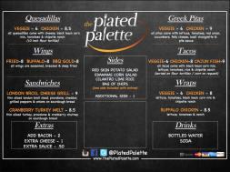 plated palet menu